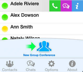 TrueConf for iOS - Address Book