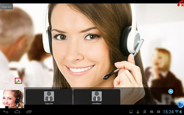 Virtual Meeting on Android Tablet