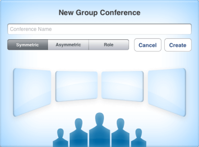 Trueconf for iOS - Creating a Symmetric Conference