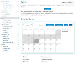 Events section