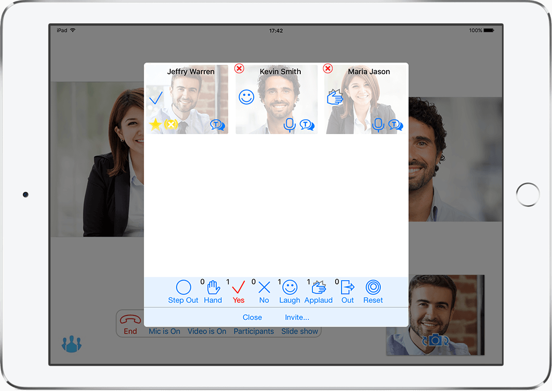 Express yourself with TrueConf 1.7.1 for iOS 2
