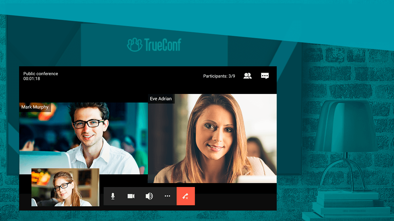 Smart tv video conferencing