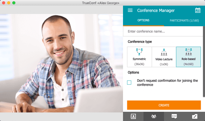 Role-Based Video Conferences in TrueConf for macOS 1