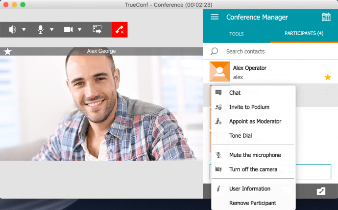 Group Video Conferences in TrueConf for macOS 4