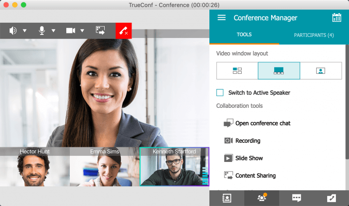 Group Video Conferences in TrueConf for macOS 2