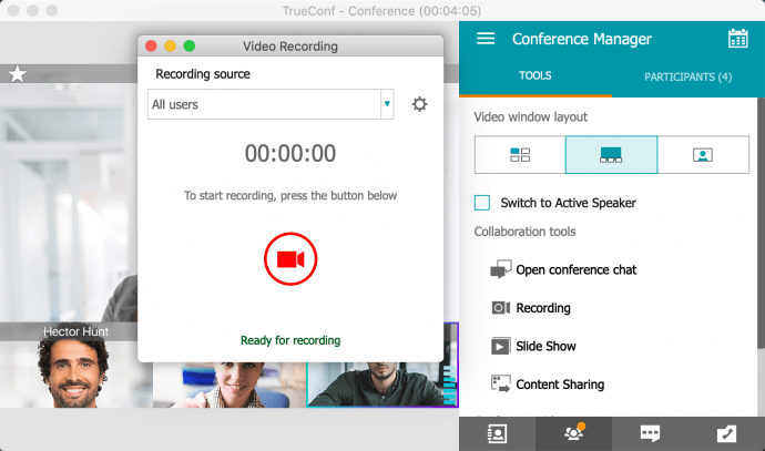 Group Video Conferences in TrueConf for macOS 3