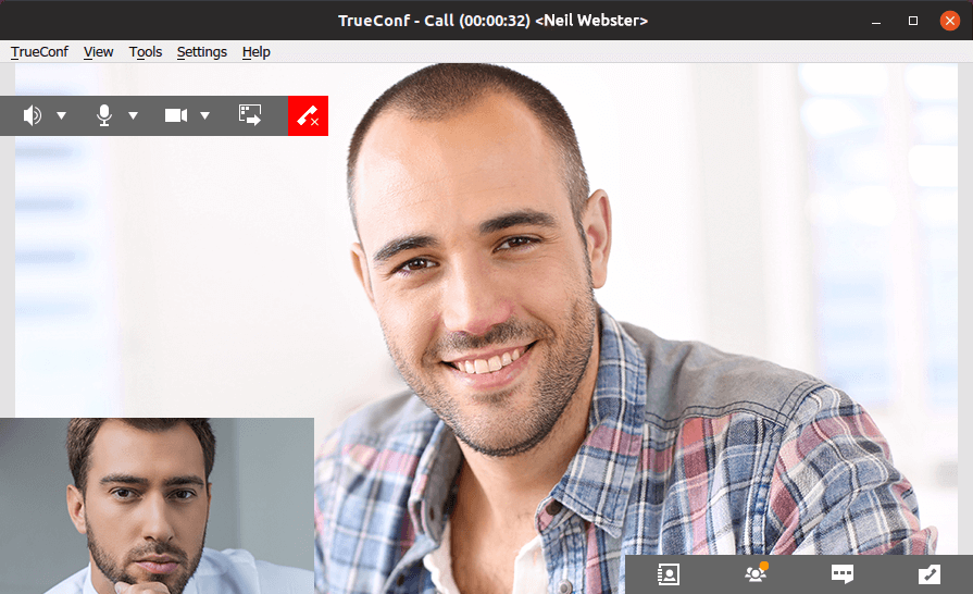 Video calls and conferences in TrueConf for Linux 1