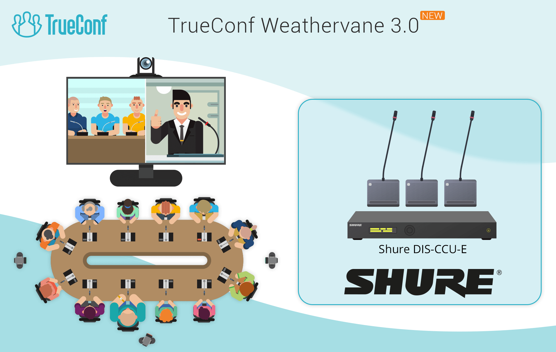 TrueConf Weathervane 3.0 - support for Shure