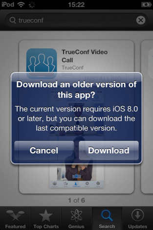 How to Install TrueConf Client App on iOS 8 and below 2