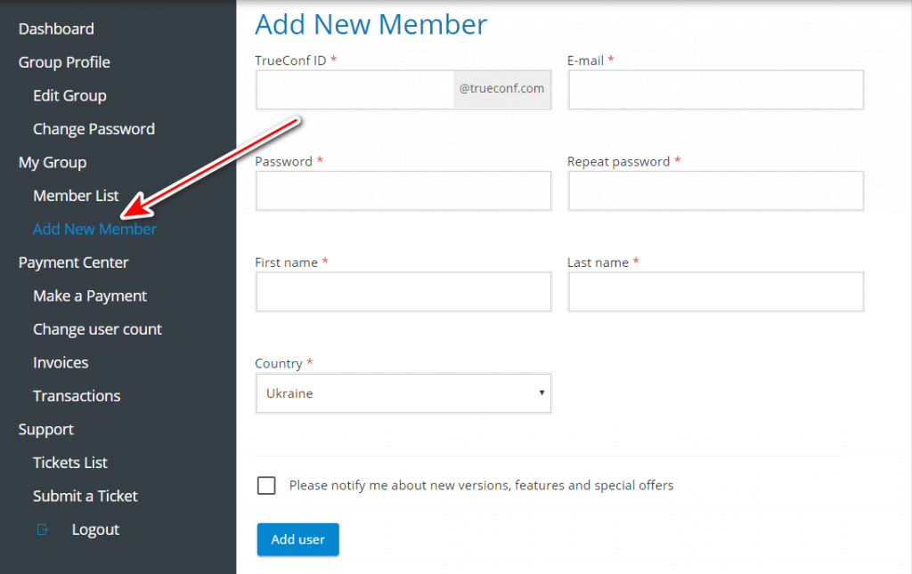 How to create corporate group in TrueConf Online 3