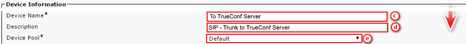 How to Integrate TrueConf Server and Cisco Unified Communication Manager via SIP 2