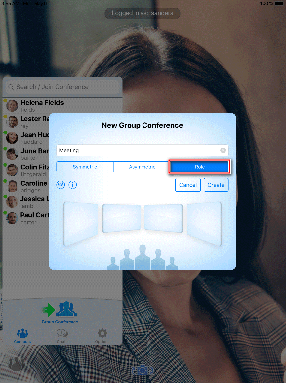 Group video conferences on iPhone and iPad with TrueConf 4
