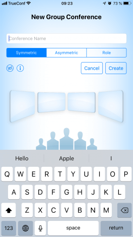 Group video conferences on iPhone and iPad with TrueConf 2