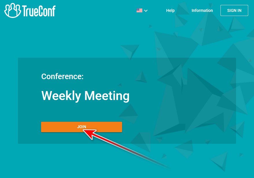 How to join TrueConf video conference via a link 1