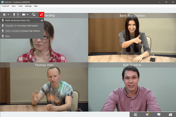 How to use Dante-enabled audio devices in TrueConf video conferencing 1