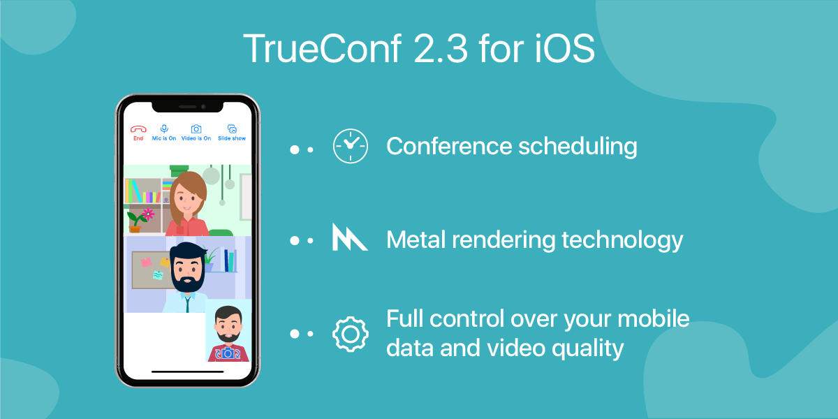 TrueConf 2.3 for iOS: Meeting scheduling and Metal support 1