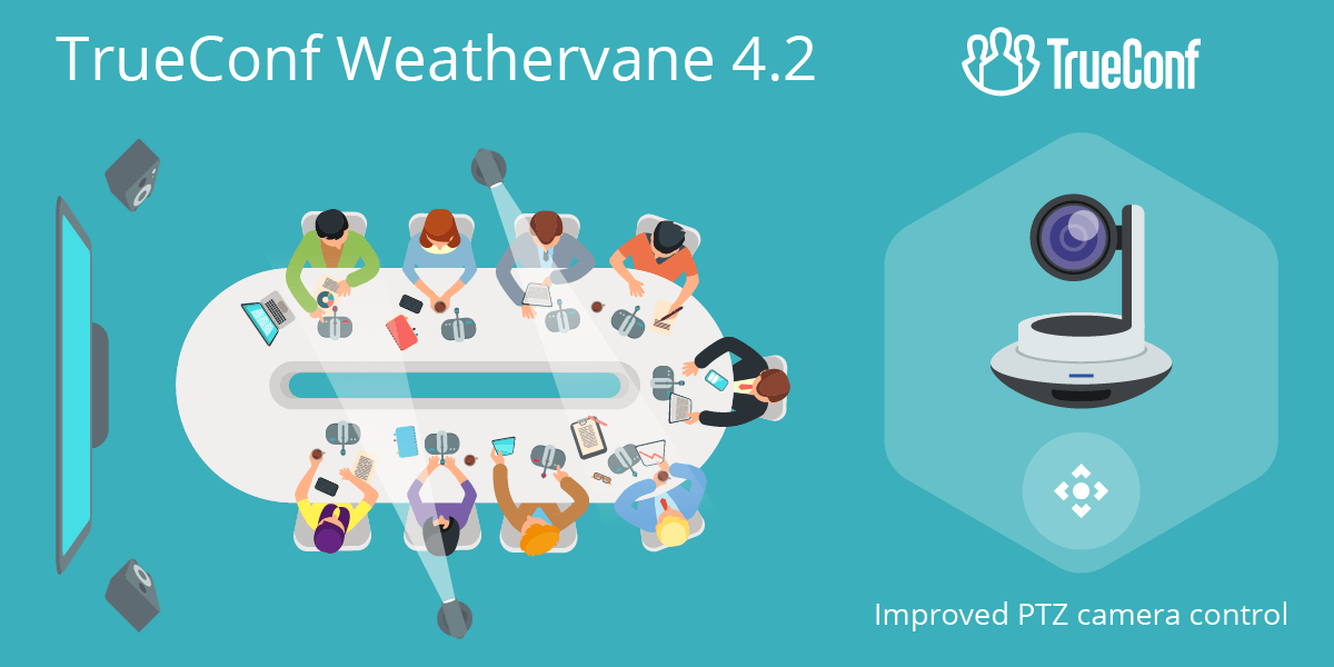 TrueConf Weathervane 4.2: TrueConf Room support and new PTZ camera control interface 1