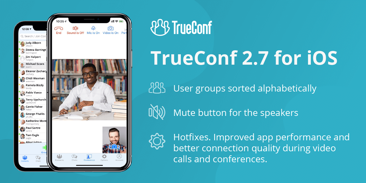 TrueConf 2.7 for iOS: Speakers mute and hotfixes 2