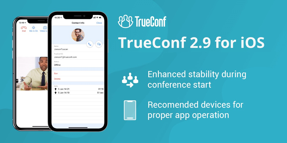 Update TrueConf 2.9 for iOS