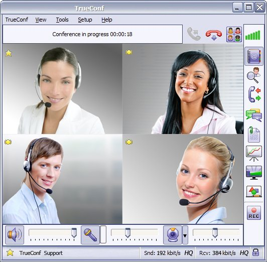 Improve business communication using a video conferencing server.