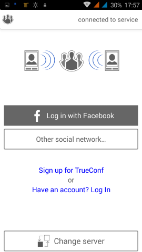 Trueconf for Android - Login Form