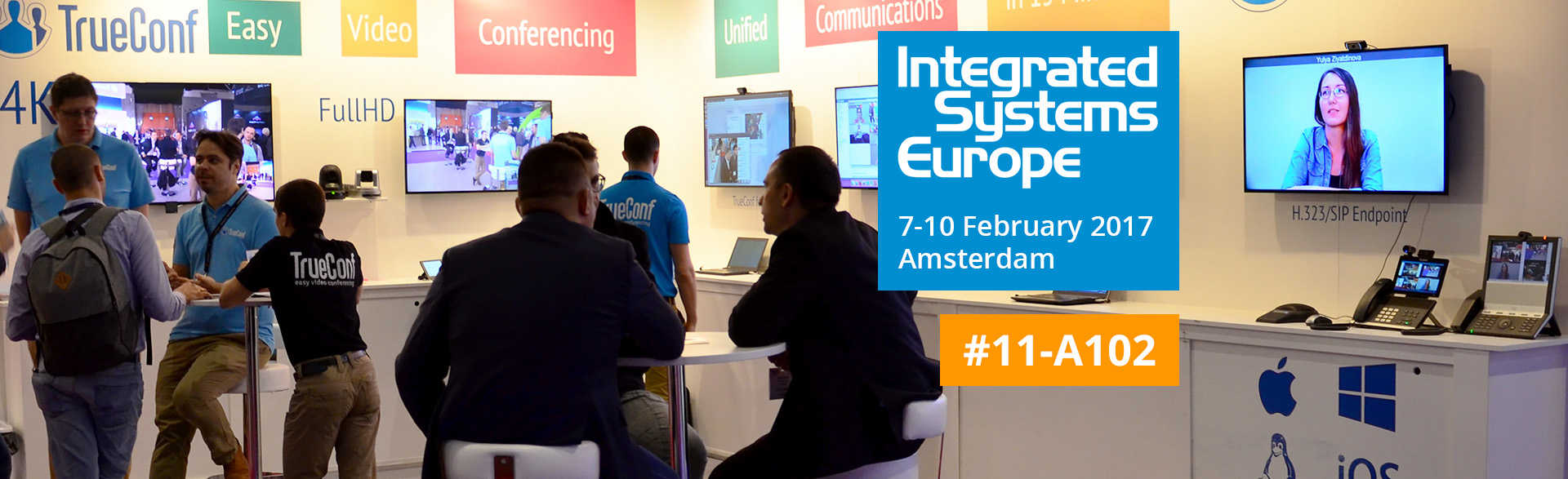 TrueConf joins Integrated Systems Europe 2017. 7-10 February, Amsterdam